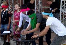 В Шымкенте прошла акция в поддержку незрячих людей
