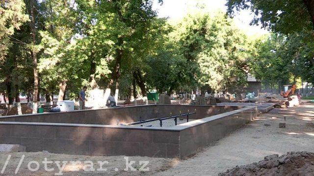 Новый фонтан в парке Металлургов