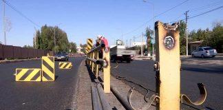 Демонтаж ограждения на Темирлановском шоссе