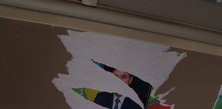 Портрет Куата Жуматаева разорвали