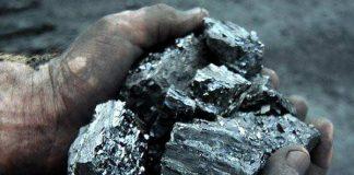 Уголь.