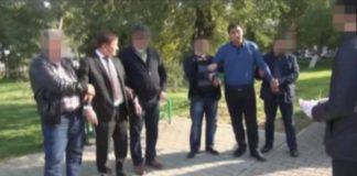 Скриншот видео задержания чиновника