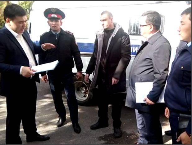 Следственный эксперимент ограбление банка в Шымкенте