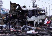 Столкновение российского поезда с казахстанским автобусом