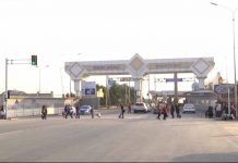 Таможенный пост Жибек жолы. Граница с Узбекистаном