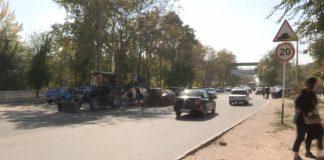Улица Байтурсынова в Шымкенте полностью открыта для движения транспорта