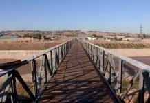 Отреставрированный мост через реку Бадам