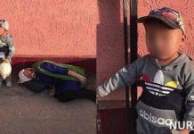 Пьяная женщина в ЮКО заснула на улице, забыв про внука