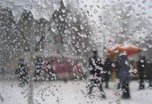 В Шымкенте мокрый снег