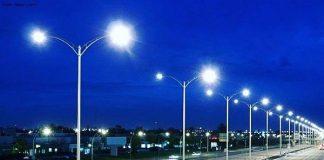 Ночное освещение в Шымкенте