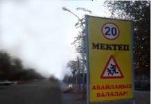 В городе Арыс появился неприличный дорожный знак