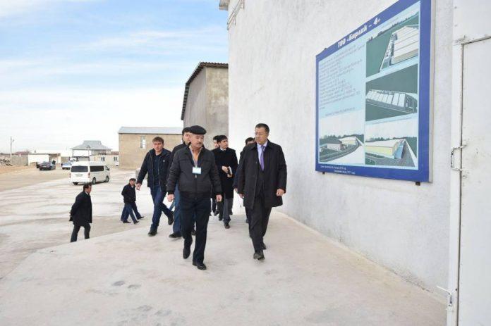 Строительство завода и складов в ЮКО