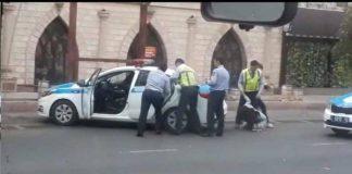 Ударивший девушку в живот шымкентский полицейский не будет наказан.