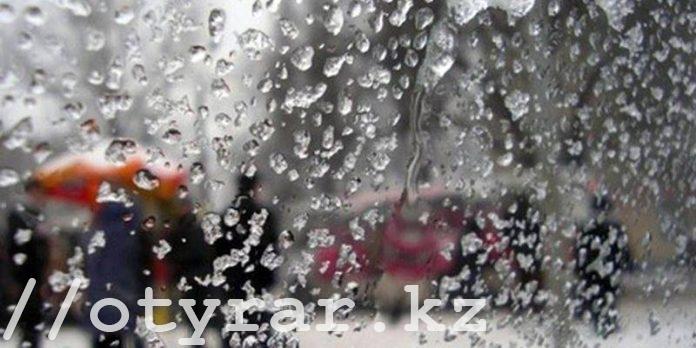 Мокрый снег в ЮКО
