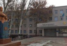 Учебный центр МВД РК им. Б. Момышулы, известный в Шымкенте как школа МВД
