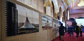 Выставка ковров с видами Астаны