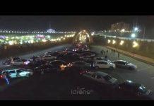 Автолюбители Шымкента поддержали креативный новогодний флешмоб