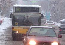 Снегопад в Шымкенте