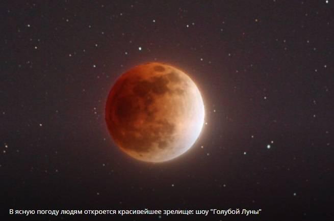 Затмение луны 31 января