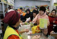Яблоки из Шымкента продают в Атырау