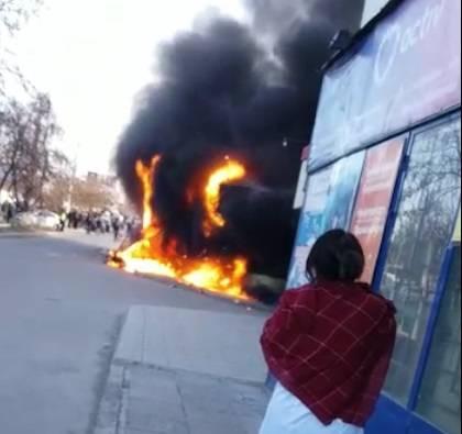 Пожар на проспекте Рыскулова
