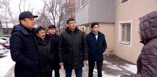 Аким Шымкента Нурлан Сауранбаев с подчиненными