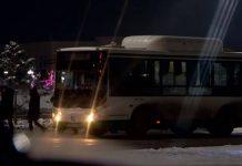 Автобус. Общественный транспорт вечером