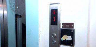 Лифт в многоэтажке Шымкента