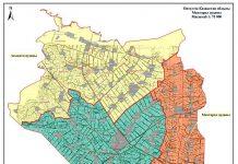 Карта разделения района в ЮКО