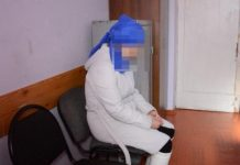 Задержанная подозреваемая