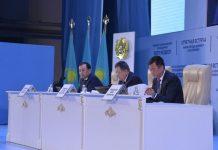 На отчетной встрече акима Шымкента