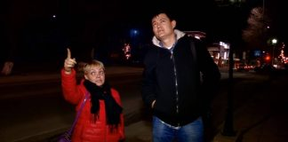 Как горожане наблюдали за кровавой луной в Шымкенте