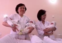 Первых тройняшек, которые родились в Шымкенте в этом году, выписали из роддома