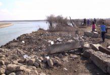 Река Сырдарья в Южном Казахстане перепугала жителей села Байыркум