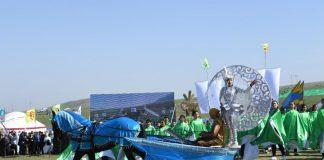 Празднования Наурыза в ЮКО началось у подножья горы Казыгурт