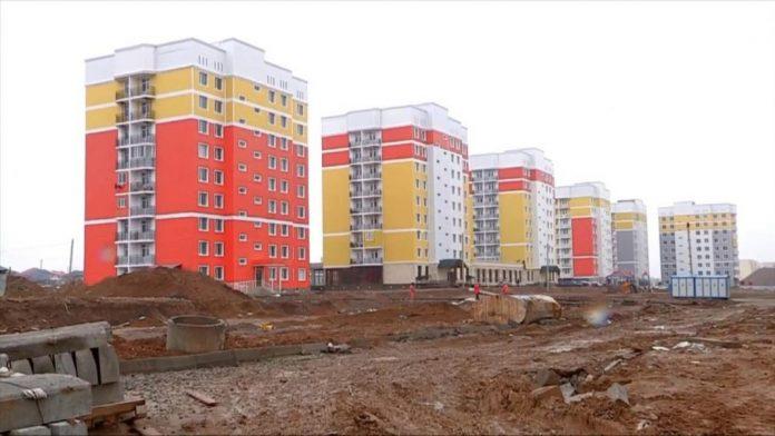 Новые дома в микрорайоне Нурсат