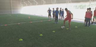 Спорткомплекс подарили юным футболистам из Шымкента
