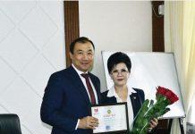 Аким Шымкента проводил Жанат Тажиеву на новую работу