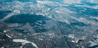 Вид земли с самолета