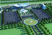 Новый железнодорожный вокзал в Шымкенте