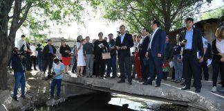 В Шымкенте презентовали работы по реконструкции реки Кошкарата