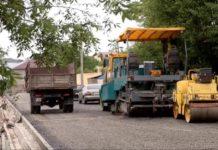 Ремонт дорог в поселке Аксукент