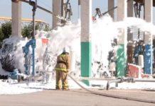Огнеборцы ЮКО учились тушить сложный пожар на нефтебазе в Шымкенте