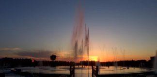 Поющий фонтан возле областного акимата