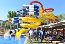 В ЮКО состоялось открытие самого большого в Средней Азии детского водного городка