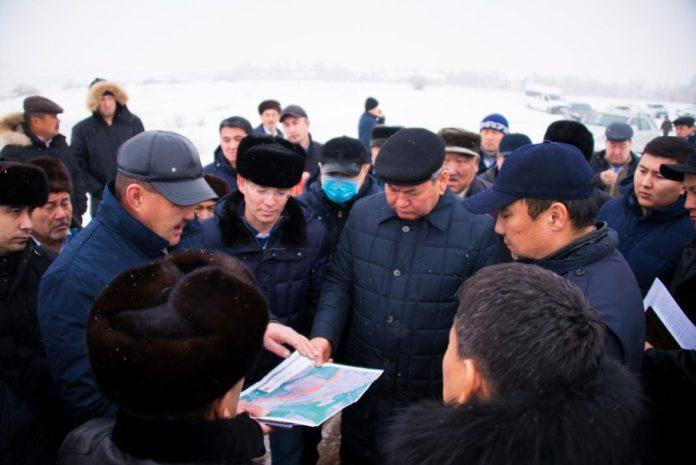 Встреча акима Шымкента с жителями массива Шапрашты