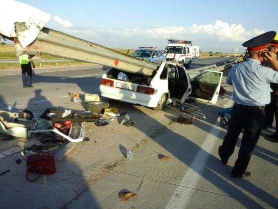 ДТП с человеческими жертвами произошло в Шымкенте