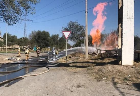 Порыв и пожар на газопроводе
