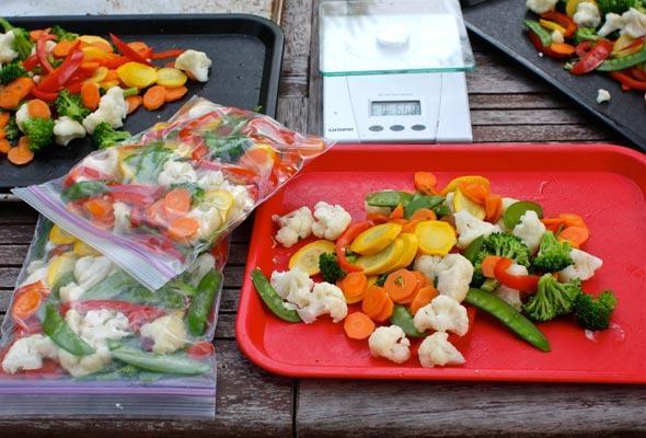 заморозка овощей