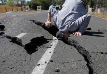 Землетрясение. Разлом дороги